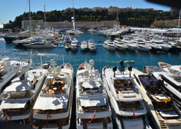 The Monaco Yacht Show on the French Riviera