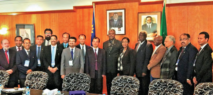 Delegation meeting with Saara Kuugongelwa-Amadhila, Prime Minister of the Republic of Namibia, accompanied by Alpheus !Naruseb, Minister of Works and Transport, Government of the Republic of Namibia; Immanuel Ngatizeko, Minister of Industrialisation, Trade and SME Development, Government of Namibia and Obeth Kandjoze, MP, Minister of Mines and Energy, Government of Namibia on July 31, 2017 at Windhoek