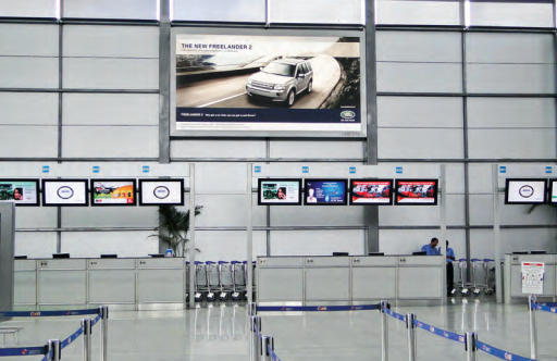 Digital advertisements at airports