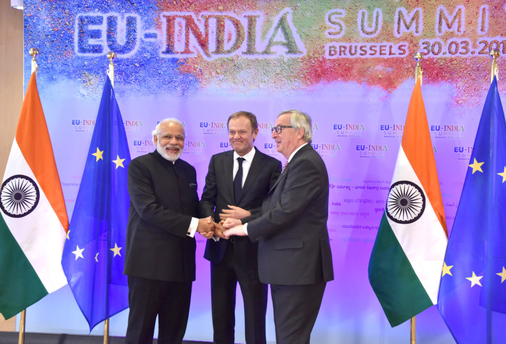 Narendra Modi at the EU-INDIA Summit, in Brussels, Belgium on March 30, 2016 (PC: PIB)