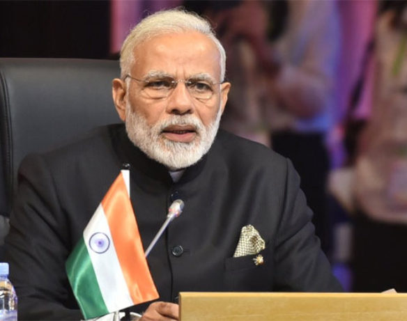 Prime Minister Narendra Modi speaks at the 15th ASEAN-India Summit on terrorism and economic cooperation