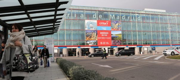 A still from FITUR 2017 - outside the Feria de Madrid