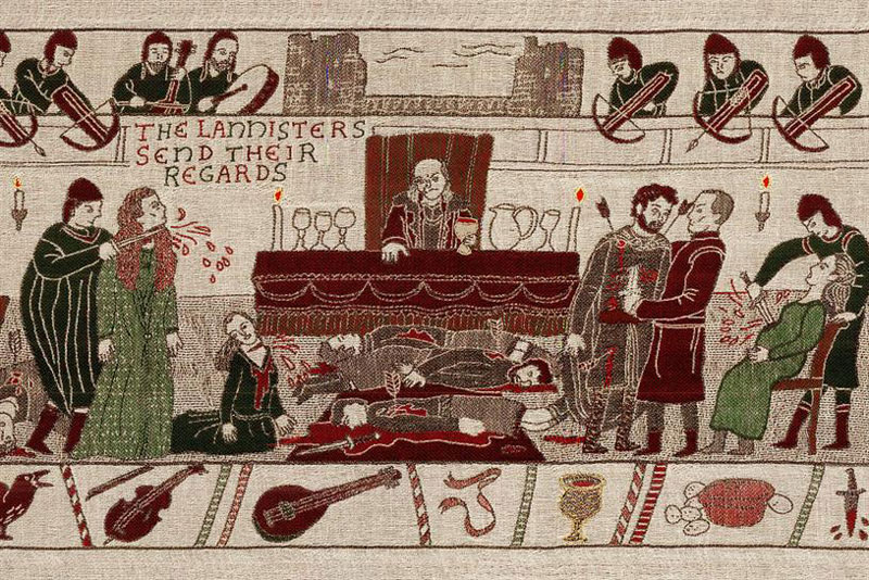 Revelers are all praises for the tapestry that depicts scenes out of Game of Thrones