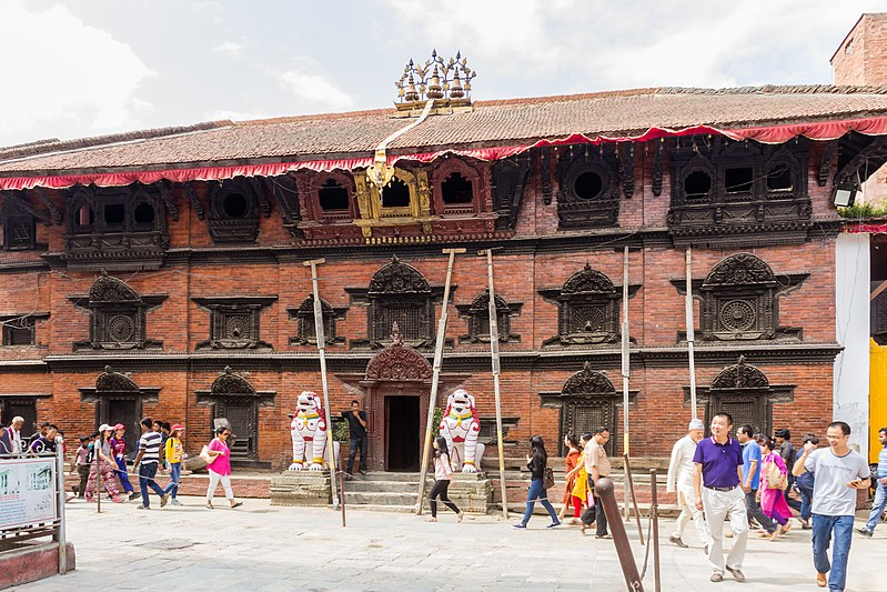 The Kumari House in Basantapur Durbar Square