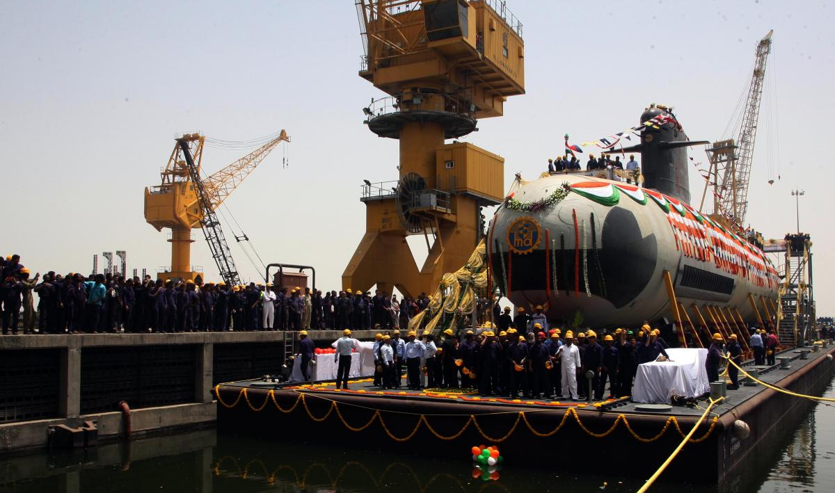 Kalvari, the first of six Scorpene-class submarines, is designed by French naval defence and energy company, DCNS