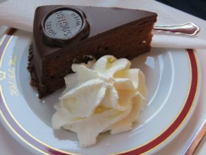 Traditionally served with whipped cream, Sacher Torte is quite a famous cake