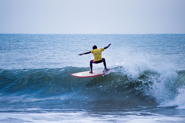 Kanyakumari is a lesser known surfing destination