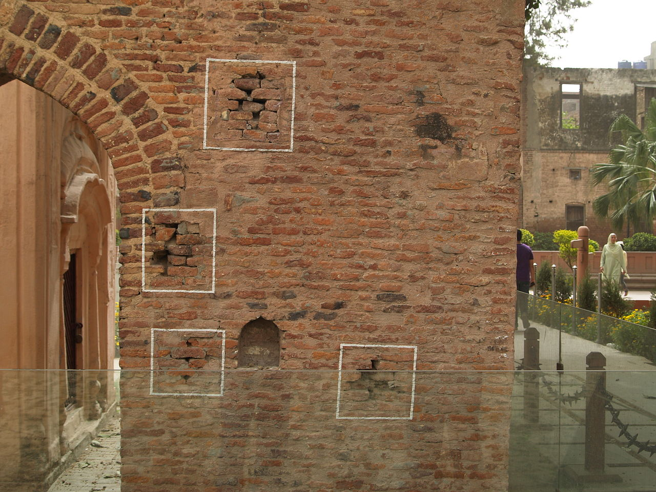 Bullet marks at the Jallianwala Bagh
