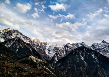 Panorama of the Desert Mountains in Himachal Pradesh