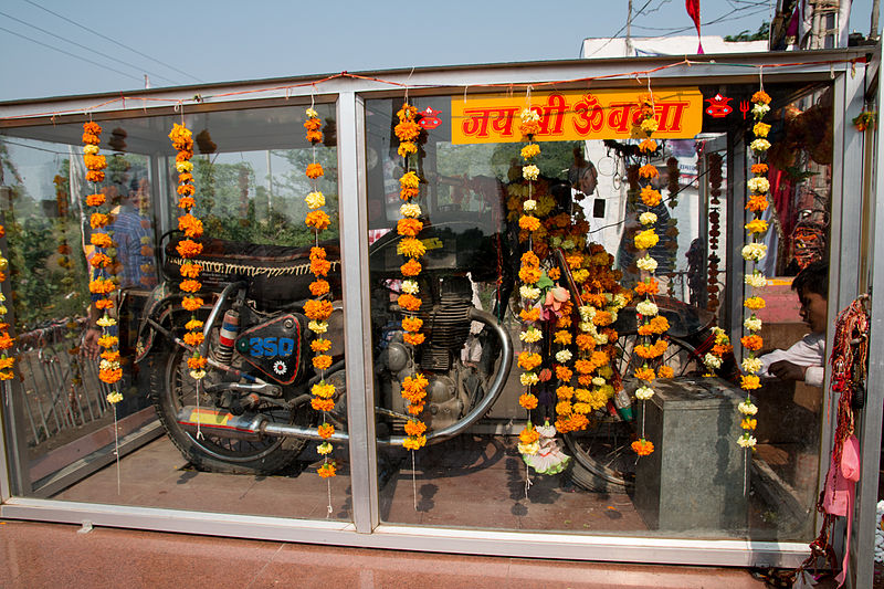 Temple devoted to the 'motorcycle deity'