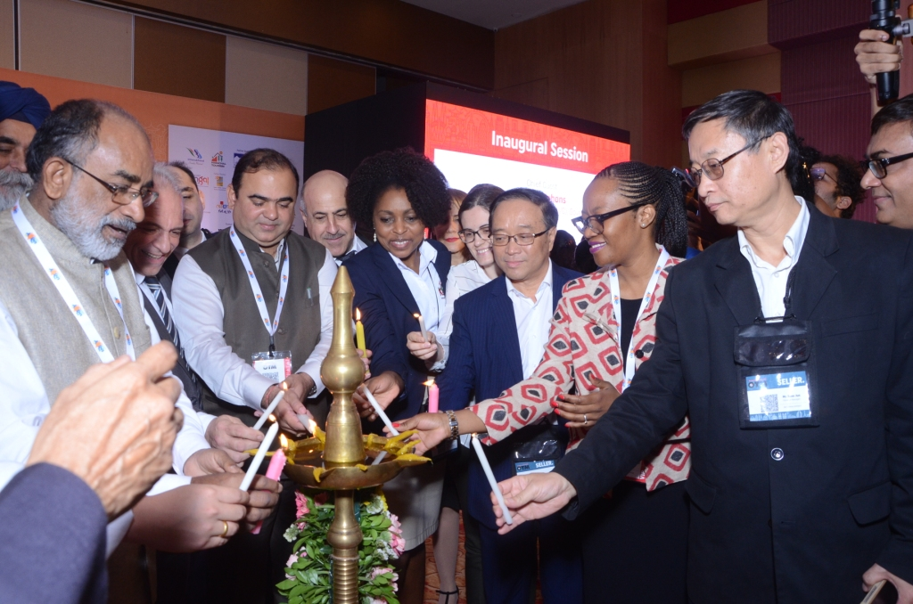 The inaugural ceremony marked by the lighting of the lamp