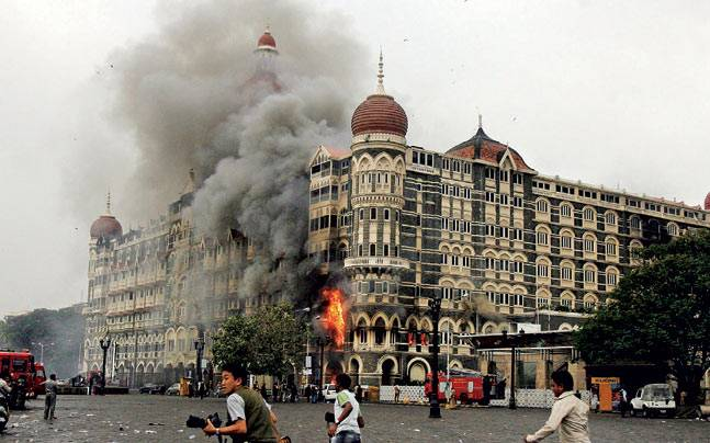 The Taj hotel at the time of attacks