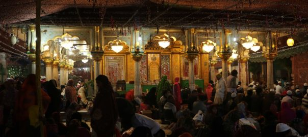 Inside the dargah complex