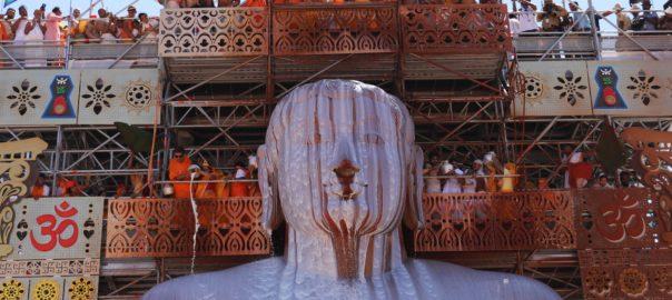 Mahamastakabhisheka: the bathing of Lord Bahubali, Gommateshwara statue, in 2018
