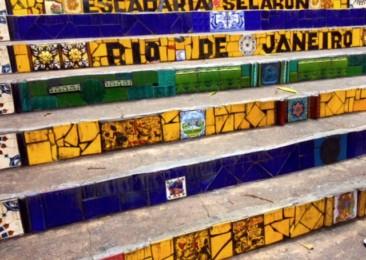 The famed Selaron Steps of Rio de Janeiro