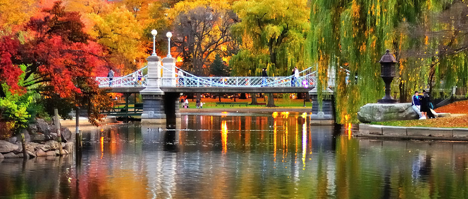 Fall time at Boston Public Garden