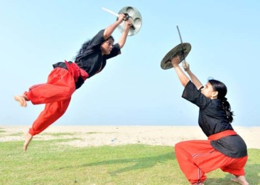 The Indian martial art of Kalaripayattu