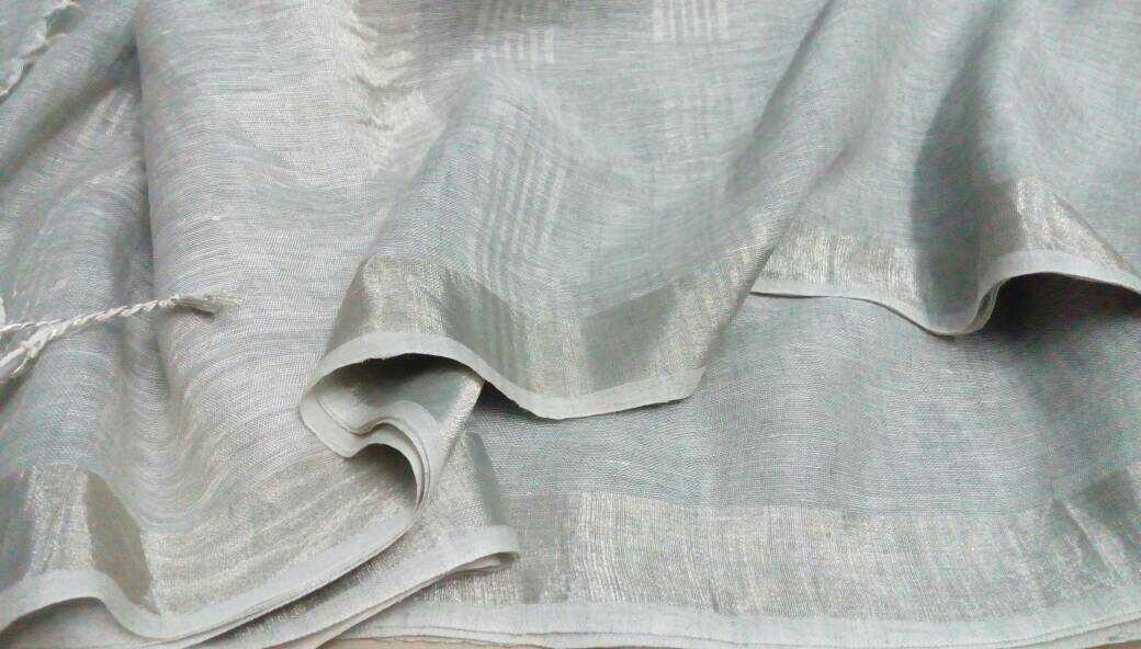 Pure linen saree Photo: Elegant Fashion Wear