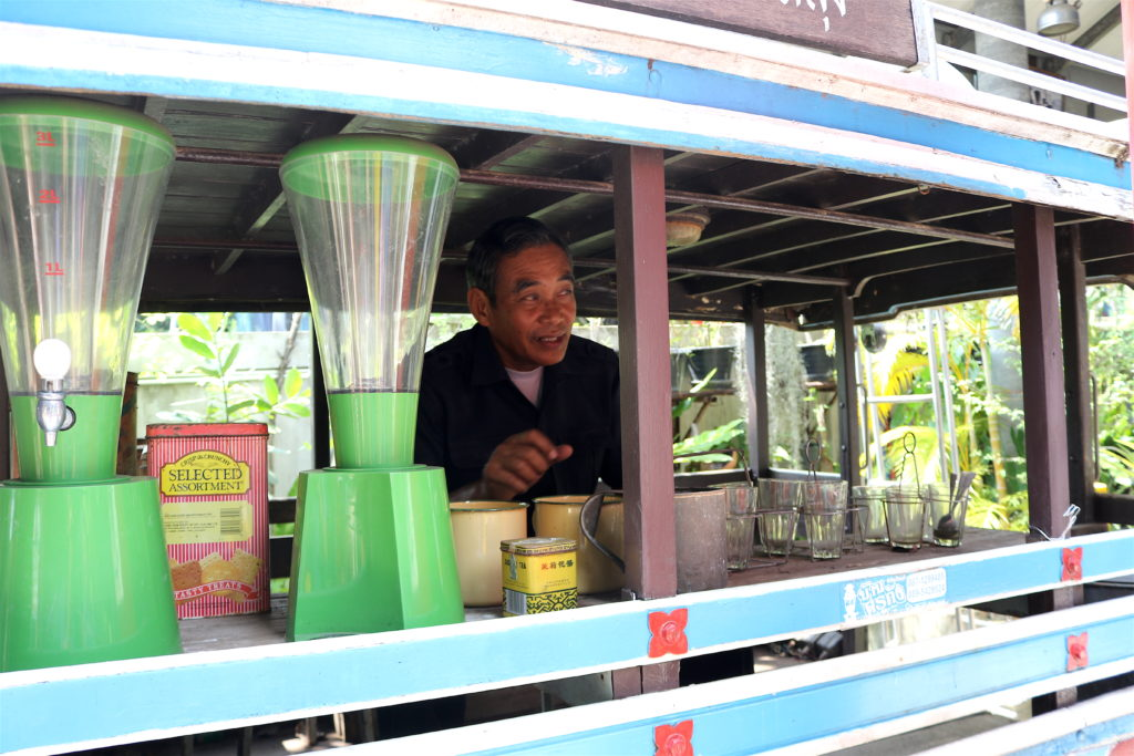 "The Juice seller vintage truck at the ""Krukung museum"" in Rayong"