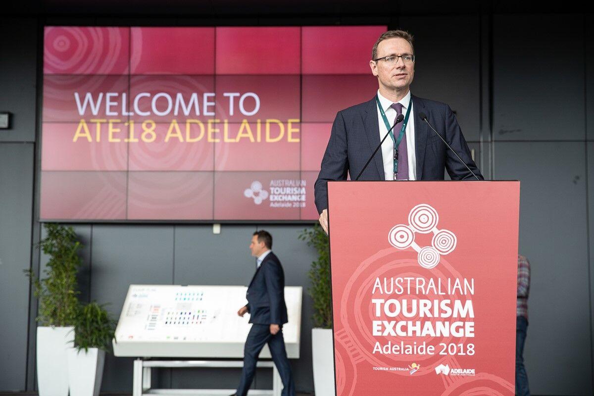 John O'Sullivan at the Australian Tourism Exchange Tourism Australia and South Australia Tourism Commission.