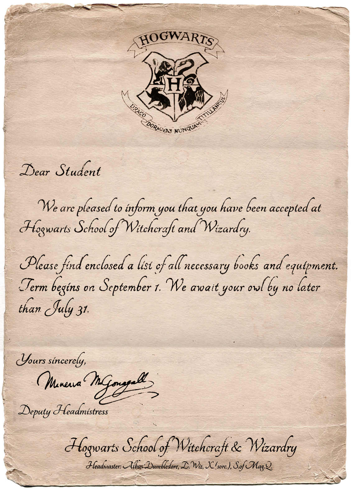 The invitation letter