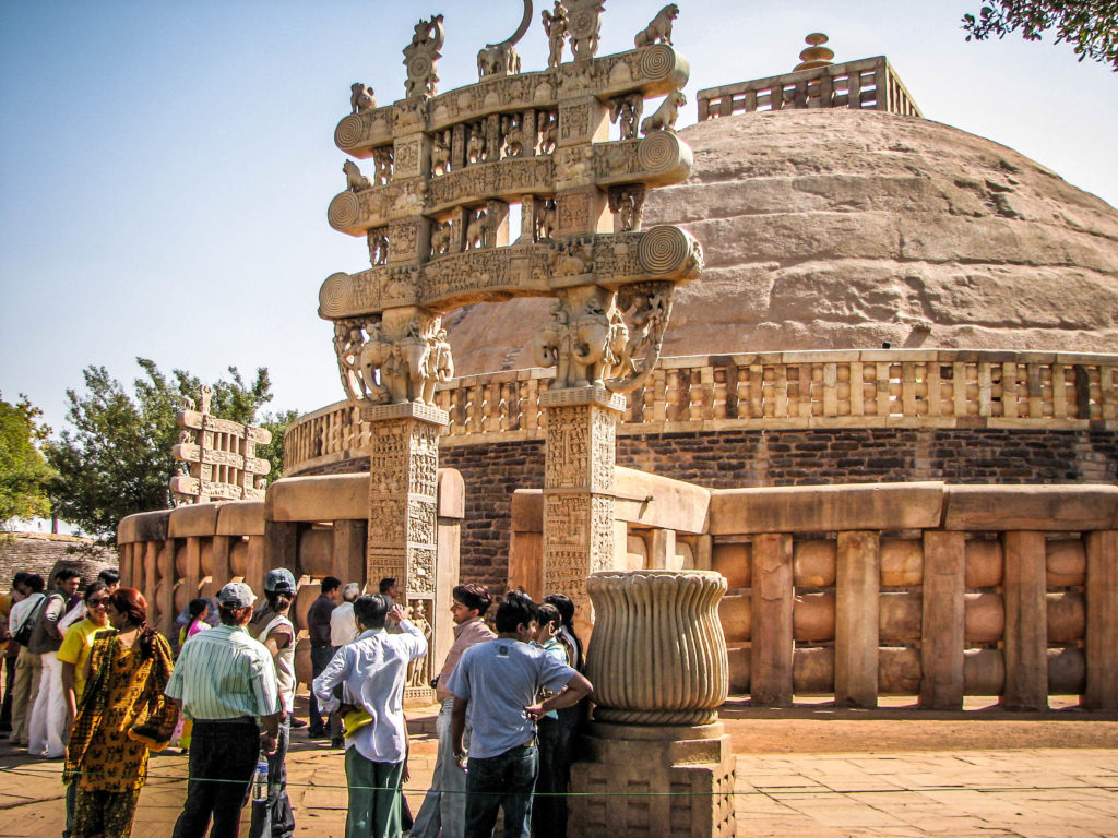 sanchi stupa gateway