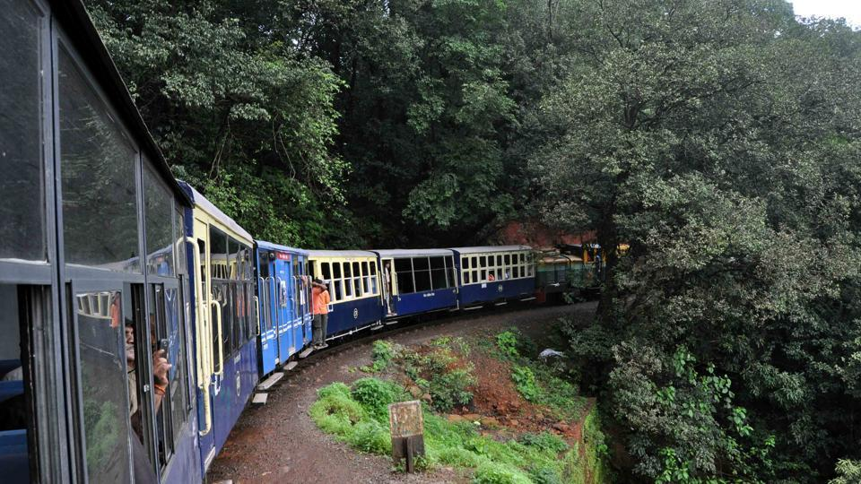 The British-era narrow gauge mini train connecting Matheran
