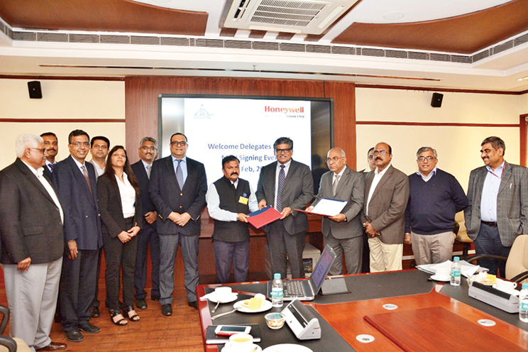 AAI signed a Memorandum of Understanding (MoU) with Honeywell Technology Solutions Lab Pvt Ltd to develop a long term collaboration in the field of aviation technologies, systems and procedures