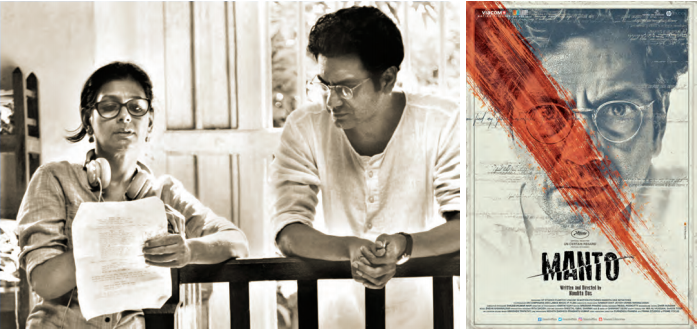 Nandita Das et Nawazuddin Siddiqui durant le tournage de Manto