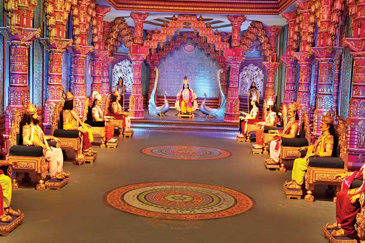 Sets of Bhagavatam at the Ramoji Film City