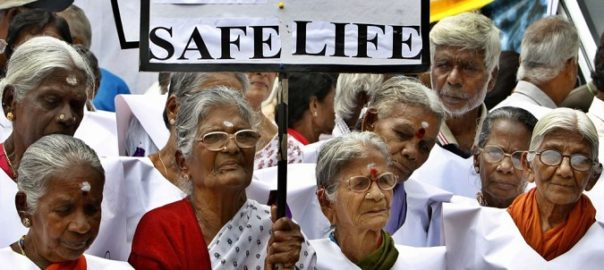 Elderly women participate in a walk organized to mark the World Elder Abuse Awareness Day in Bangalore, India, Wednesday, June 15, 2011. With the life expectancy of people increasing, households in places like India that have large numbers of  joint and extended families are under stress, thereby increasing the incidents of abuse of the elderly by the family members. (AP Photos/Aijaz Rahi)
