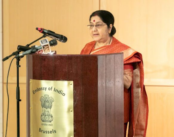 Swaraj committed that her ministry and the embassy were available to the Indian diaspora at all the times.