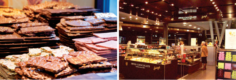 There are numerous exhibitions, tours, and chocolate tasting events for chocolate lovers in Switzerland