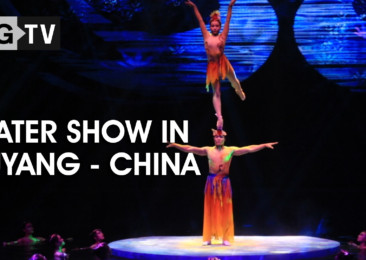Water Acrobatic Show in Puyang