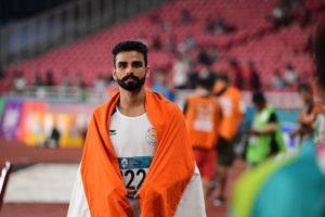 Arpinder Singh at the Asian Games 2018