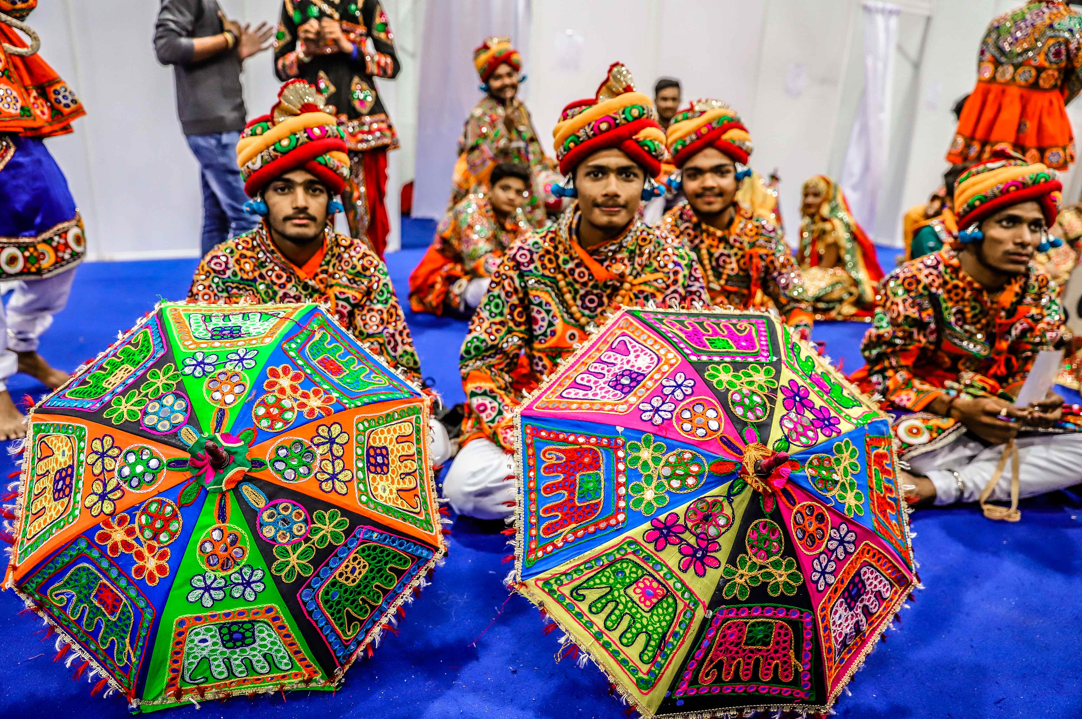 Garba dancers from Gujarat