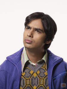 "Kunal Nayyar as Raj Koothrappali from ""The Big Bang Theory""."