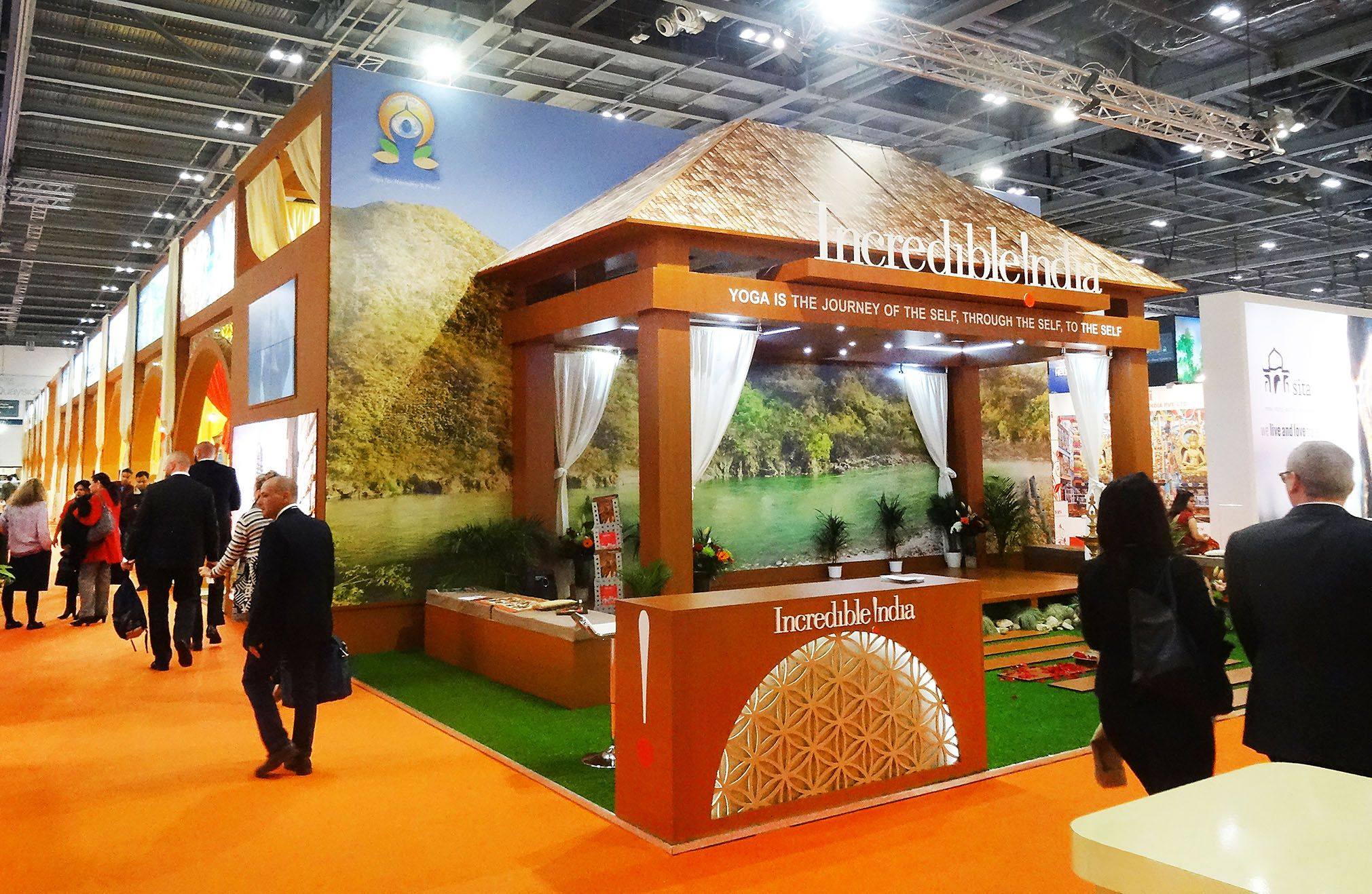 The Indian pavilion at WTM, London.