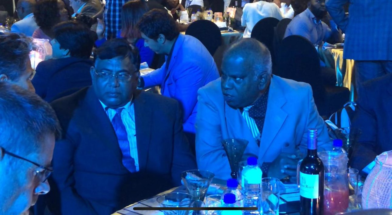Rajamanickam Baskar, Director of Madura Enterprises (right) and Jagadessan Naidu from Nira Holdings (left) at the inaugural ceremony, have been living in Botswana for decades.