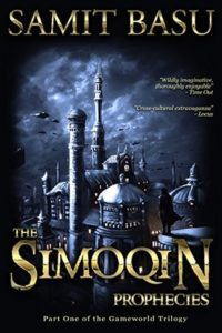 "Cover art for Samit Basu's ""The Simoqin Prophecies"""