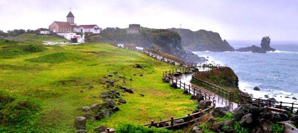 Scenic beauty of Jeju Island.