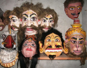 Majuli traditional masks