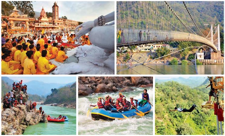 Rishikesh offre les attraits de la spiritualité, de sites de patrimoine mais aussi d'activités d'aventure
