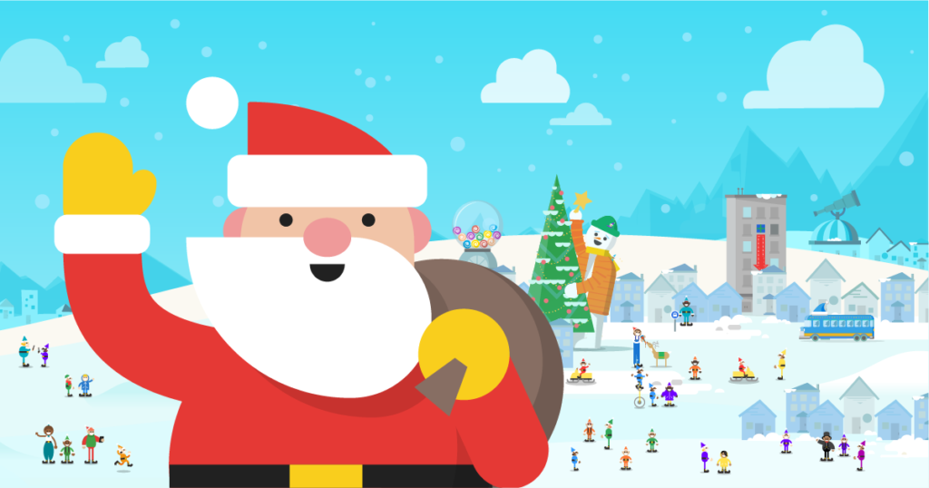 Google allows people to track Santa Claus, play games, learn and lots more