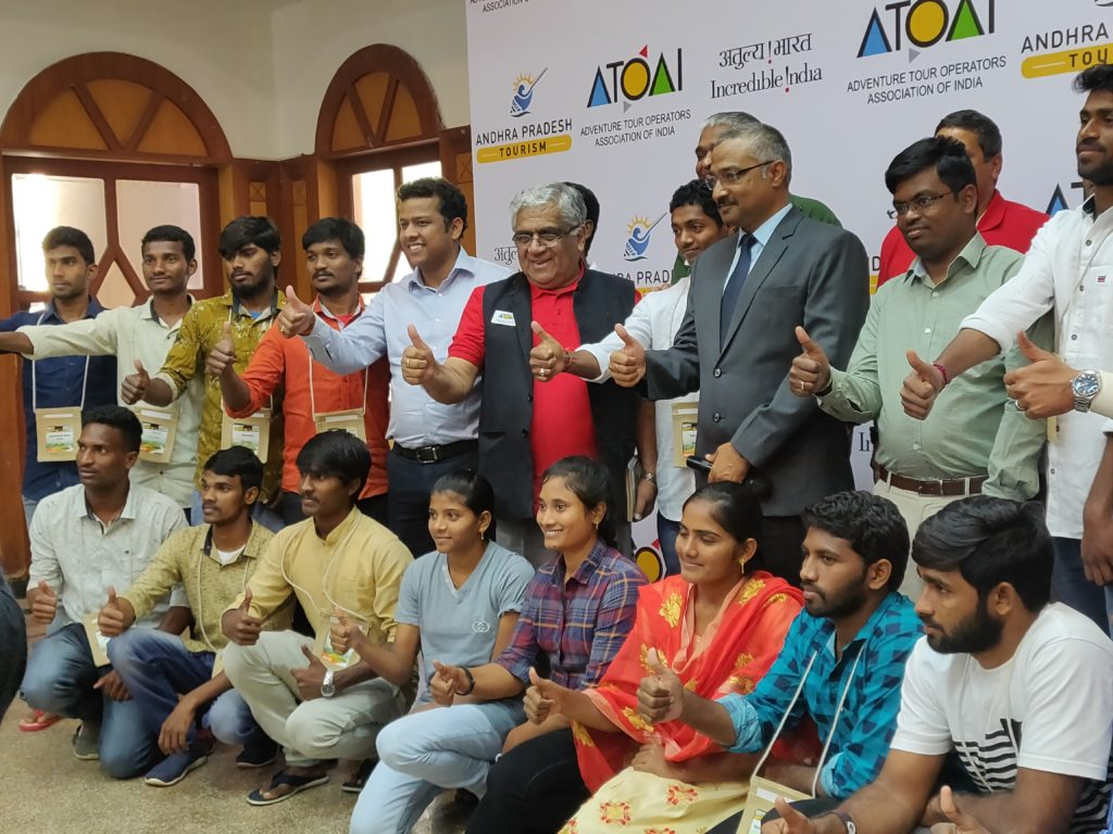 ATOAI members with Ministries of Tourism Department, Government of Andhra Pradesh, during the press conference.
