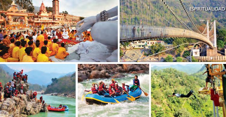 La espiritualidad, los sitios históricos y las actividades de aventura suelen atraer a los turistas a Rishikesh