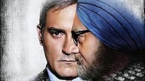 The poster of Accidental Prime Minister featuring actors Akshay Khanna and Anupam Kher