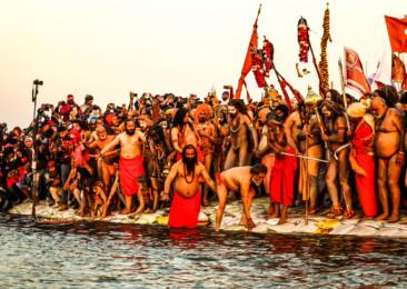 The holy gathering at the Ardh Kumbh Mela