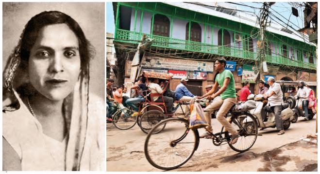 Portrait de Jaddanbai, une tawa'if devenue actrice et réalisatrice ; la rue animée de Chawri Bazar aujourd'hui