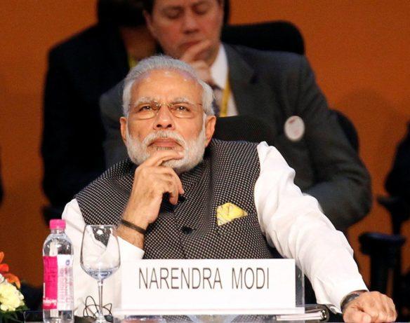 India's Prime Minister Narendra Modi attends the Vibrant Gujarat investor summit in Gandhinagar